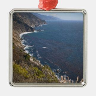 USA, California, Big Sur, Rugged coastline Square Metal Christmas Ornament