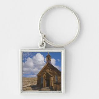 USA, California, Bodie, Old church in desert Silver-Colored Square Keychain