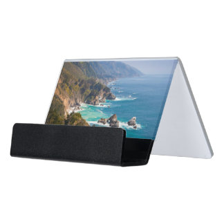 USA, California. California Coast, Big Sur Desk Business Card Holder