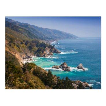 USA Themed USA, California. California Coast, Big Sur Postcard