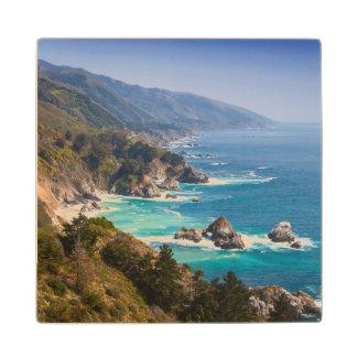 USA, California. California Coast, Big Sur Wooden Coaster