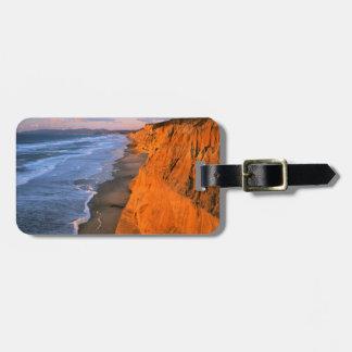USA, California, Cliffs At Pescadero State Beach Luggage Tag
