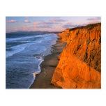 USA, California, Cliffs At Pescadero State Beach Postcard