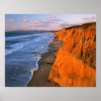 USA, California, Cliffs At Pescadero State Beach Poster