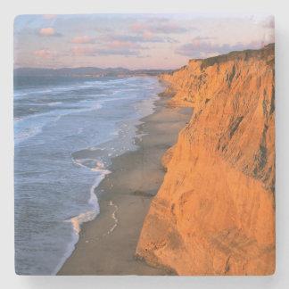 USA, California, Cliffs At Pescadero State Beach Stone Coaster