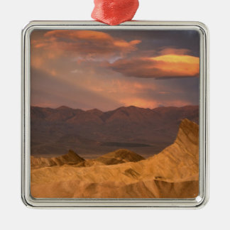 USA, California, Death Valley National Park. 2 Square Metal Christmas Ornament