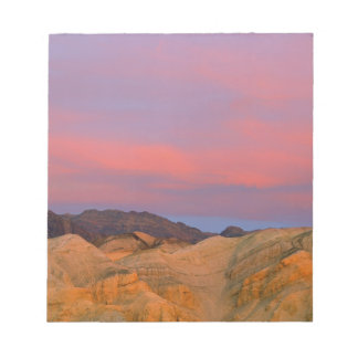 USA, California, Death Valley NP. Sunset offers Memo Pad