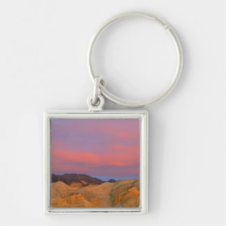 USA, California, Death Valley NP. Sunset offers Silver-Colored Square Keychain