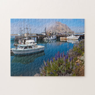 USA, California. Docked Boats At Morro Bay Jigsaw Puzzle