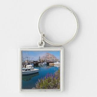 USA, California. Docked Boats At Morro Bay Keychain