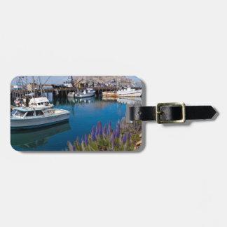 USA, California. Docked Boats At Morro Bay Luggage Tag