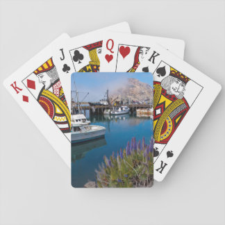USA, California. Docked Boats At Morro Bay Poker Deck