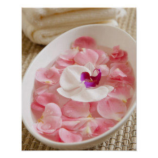 USA, California, Fairfax, Bowl of petals by Print