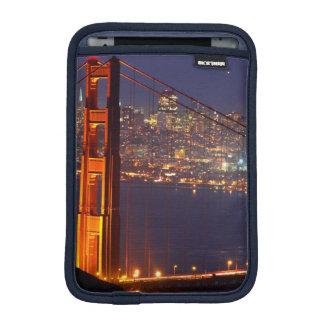 USA, California. Golden Gate Bridge At Night iPad Mini Sleeves