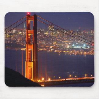 USA California Golden Gate Bridge At Night Mouse Pad