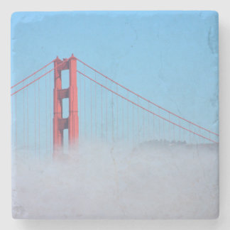 USA, California. Golden Gate Bridge In Morning Stone Coaster