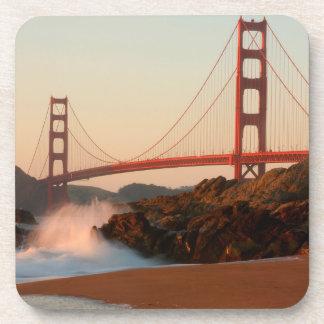 USA, California. Golden Gate Bridge View Drink Coaster