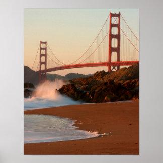 USA, California. Golden Gate Bridge View Poster