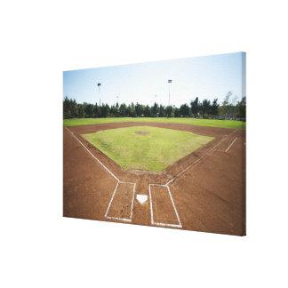 USA, California, Ladera Ranch, baseball diamond Canvas Print