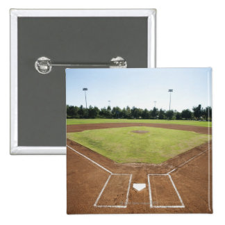 USA, California, Ladera Ranch, baseball diamond Pinback Button