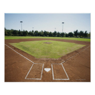 USA, California, Ladera Ranch, baseball diamond Poster