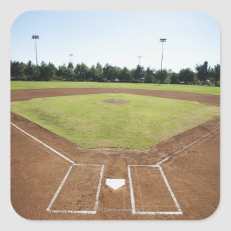 USA, California, Ladera Ranch, baseball diamond Square Sticker