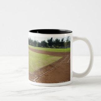 USA, California, Ladera Ranch, baseball diamond Two-Tone Coffee Mug
