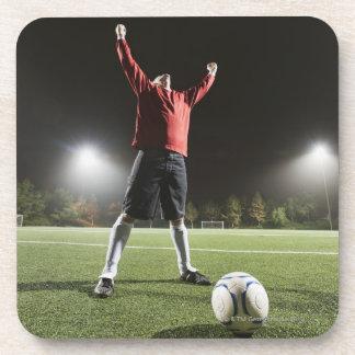 USA, California, Ladera Ranch, Football player 2 Beverage Coaster