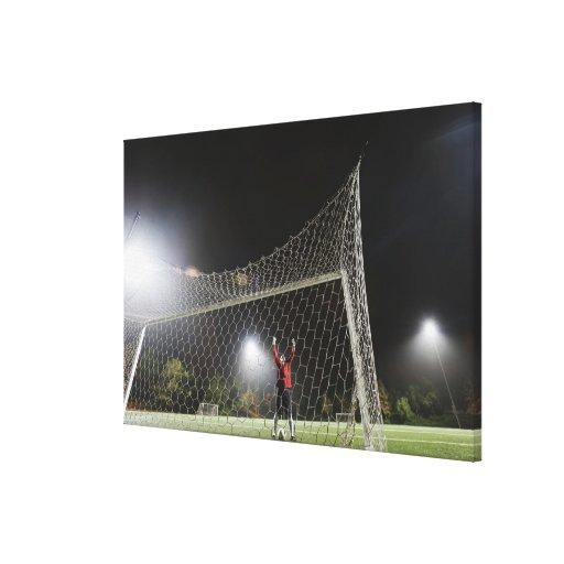 USA, California, Ladera Ranch, Football player Canvas Print