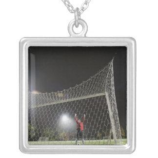 USA, California, Ladera Ranch, Football player Custom Necklace