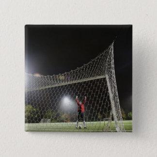 USA, California, Ladera Ranch, Football player Pinback Button