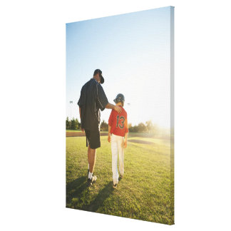 USA, California, Ladera Ranch, man and boy Canvas Print