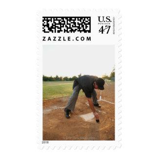 USA, California, Ladera Ranch, man drawing in Postage Stamp