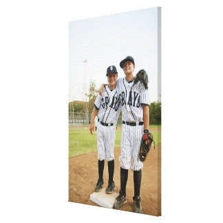 USA, California, Ladera Ranch, two boys (10-11) Canvas Print
