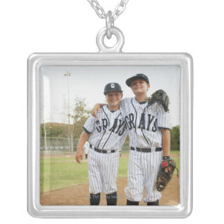 USA, California, Ladera Ranch, two boys (10-11) Silver Plated Necklace