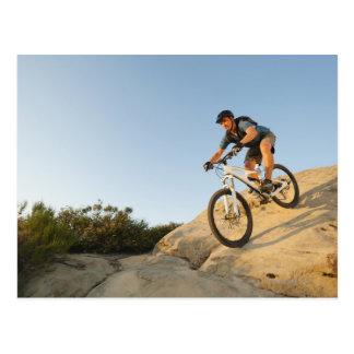 USA, California, Laguna Beach, Man cycling down Postcard