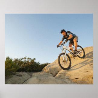 USA, California, Laguna Beach, Man cycling down Print