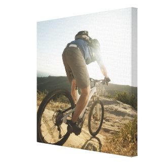 USA, California, Laguna Beach, Mountain biker Gallery Wrapped Canvas