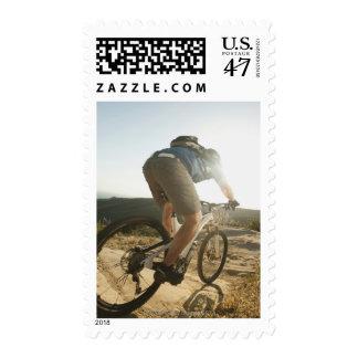 USA, California, Laguna Beach, Mountain biker Postage
