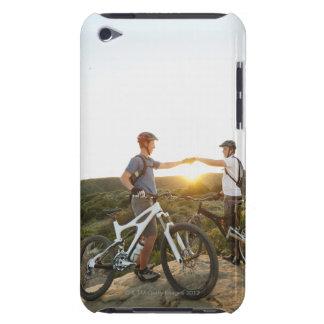 USA, California, Laguna Beach, Two bikers on iPod Touch Cover