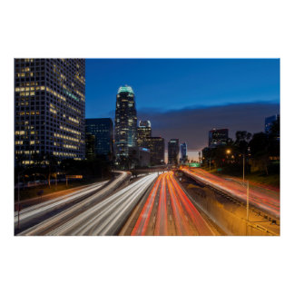 USA, California, Los Angeles, 110 Freeway 2 Poster