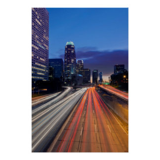 USA, California, Los Angeles, 110 Freeway Poster