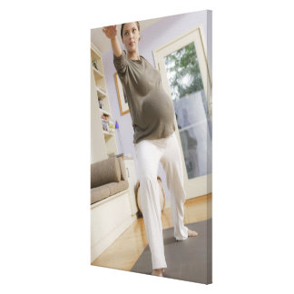 USA, California, Los Angeles, expectant mother Canvas Print