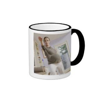 USA, California, Los Angeles, expectant mother Coffee Mug