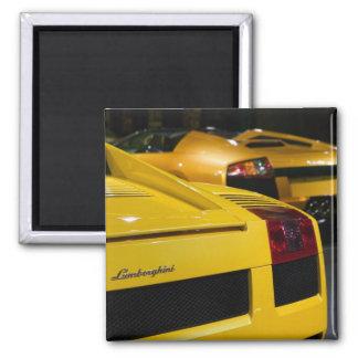 USA, California, Los Angeles: Los Angeles Auto 2 2 Inch Square Magnet