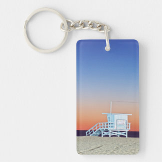USA, California, Los Angeles, Santa Monica Beach Keychain