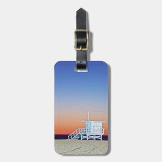 USA, California, Los Angeles, Santa Monica Beach Travel Bag Tags