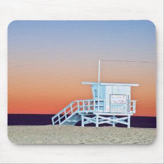 USA, California, Los Angeles, Santa Monica Beach Mouse Pad
