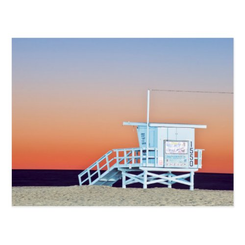 USA California Los Angeles Santa Monica Beach Postcard