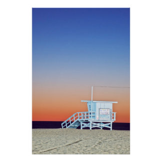 USA, California, Los Angeles, Santa Monica Beach Poster